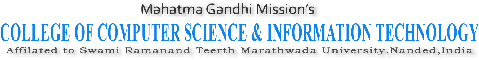 MGM college of computer science & it nanded